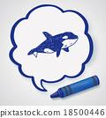 Killer Whale doodle 18500446