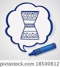 African drum doodle 18500612
