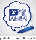 Taiwan flag doodle 18500627