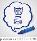 African drum doodle 18501194