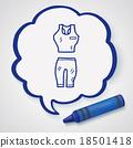 sport clothes doodle 18501418