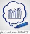 Roller coaster doodle 18501791