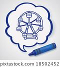 Ferris wheel doodle 18502452