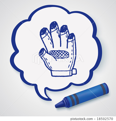 bike glove doodle 18502570
