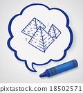Pyramid doodle 18502571
