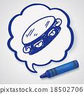 Tambourine doodle 18502706