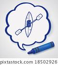 canoe doodle 18502926