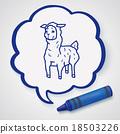 llama doodle 18503226