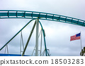 crazy rollercoaster rides at amusement park 18503283