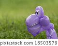 Closeup of purple balloon animal dinosaur 18503579