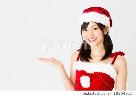 산타 소녀 18504916