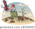 woodcutter, worker, man 18506983