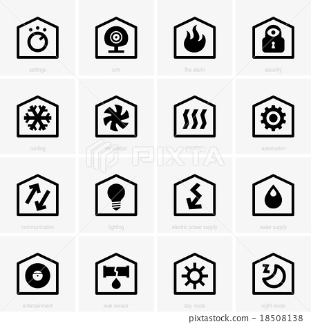 Smart home icons 18508138