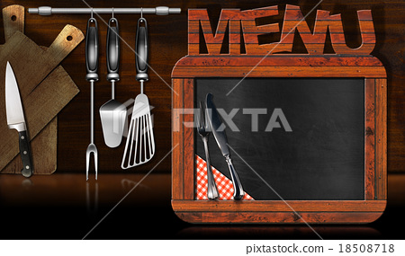 Blackboard Menu in the Kitchen 18508718