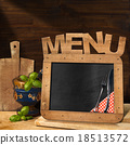 Blackboard Menu in the Kitchen 18513572