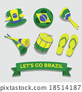 Let's go Brazil icon for cheering fan set 18514187