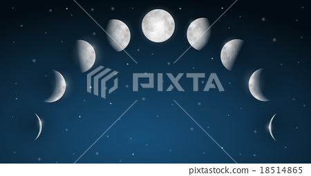 Moon Phases Vector 18514865