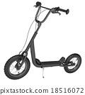 小型摩托车 三维 立体 18516072