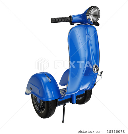 Segway blue 3d render 18516078
