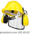Construction helmet 3d render 18516101