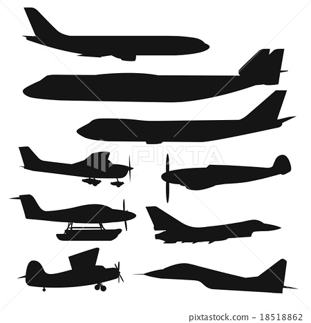 Civil aviation travel passanger air plane vector 18518862