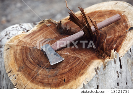 """small axe cut big tree(business concept """"powerful"""") 18521755"""