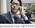 男人 電話 行動電話 18523445