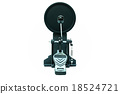 Clipping path of the electric drum pedal isolated 18524721