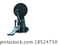 Clipping path of the electric drum pedal isolated 18524730