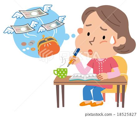 家庭經濟帳簿主婦例證 18525827