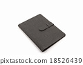 Black leather case. 18526439