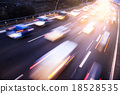 Traffic on highway with light effect 18528535