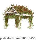 Pergola with red roses pergola 18532455
