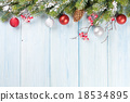 Christmas wooden background with fir tree 18534895
