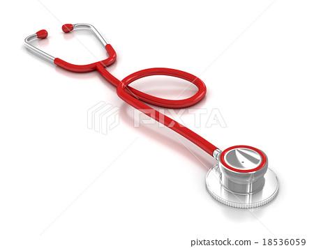 Isolated stethoscope 18536059