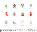 Christmas and New Year color icons on white 18536533