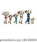 插圖 插畫 好的節日舞蹈 18538008