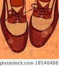 shoe, footwear, shoelace 18540466