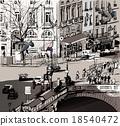 view over Saint Michel bridge in Paris 18540472