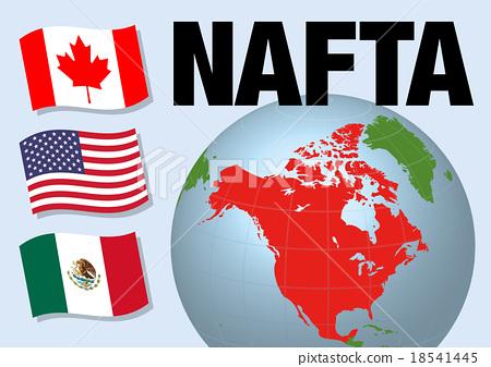 Nafta North American Free Trade Agreement North America Stock