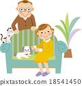시니어 부부와 애완 동물 18541450