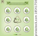 Plastic recycling symbols 18541750