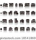 建築 剪影 圖標 18541869