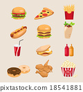 Set of fastfood 18541881