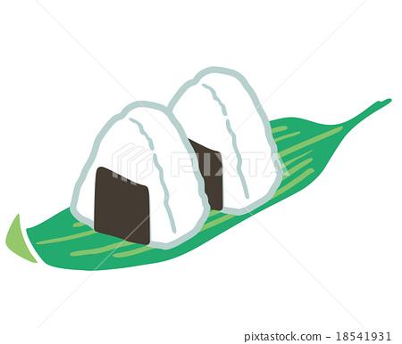 당지 일러스트 니가타 현 주먹밥 18541931