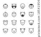 Set of animal icons 18541954