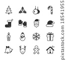 Set of merry christmas icons 18541955