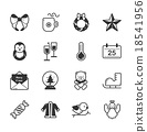 Set of merry christmas icons 18541956