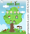family tree template info graphics vector 18542412