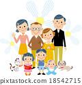 three, generation, family 18542715